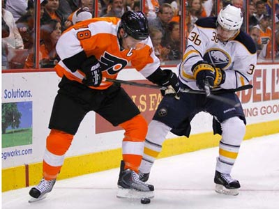The Flyers will open up the first round of the Stanley Cup playoffs Thursday night against the Sabres. (AP Photo)