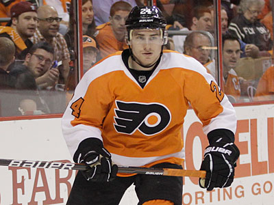 Matt Read and the Flyers take on the Penguins in Game 1 Wednesday night. (Matt Slocum/AP Photo)
