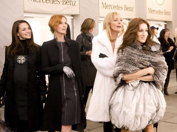 "Kristin Davis (left) stars as  Charlotte York-Goldenblatt, Cynthia Nixon (center left) stars as  Miranda Hobbes , Kim Cattrall (center right) stars as  Samantha Jones  and Sarah Jessica Parker (right) stars as Carrie Bradshaw in ""Sex and the City."""
