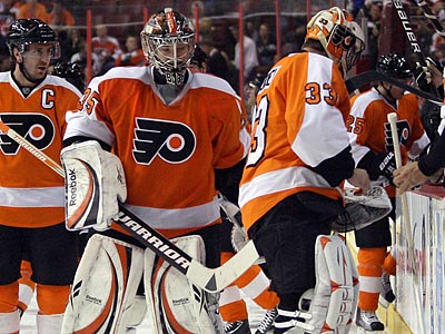 Will the Flyers need to use both Sergei Bobrovsky and Brian Boucher in the playoffs? (Yong Kim/Staff Photographer)