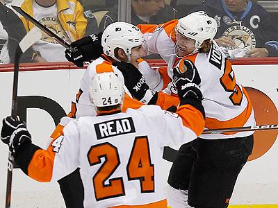 Briere Leads Huge Flyers Comeback