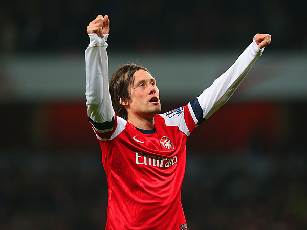 Arsenal playmaker Tomas Rosicky. (Julian Finney/Getty Images file photo)