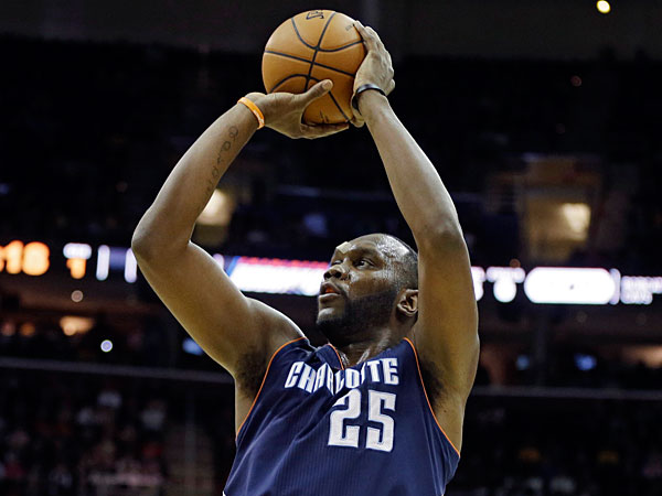Bobcats forward Al Jefferson. (Mark Duncan/AP)
