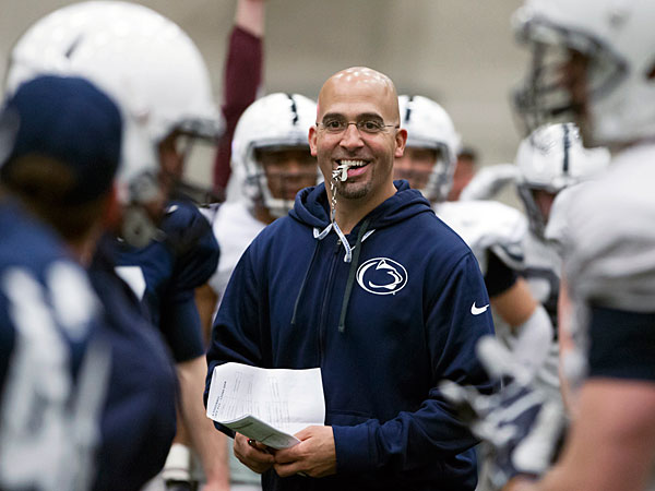 Penn State head coach James Franklin. (AP/PennLive.com, Joe Hermitt)