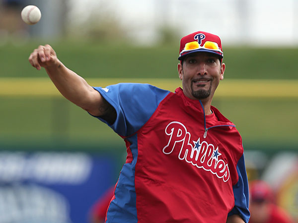 Phillies pitcher Mike Adams. (Yong Kim/Staff Photographer)