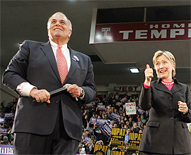 Rendell and Clinton (Inquirer)