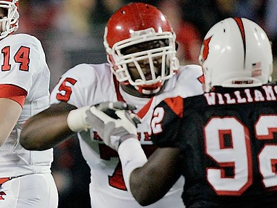 Rutgers´ Anthony Davis is considered one of the top tackles in this year´s NFL draft. (Ed Reinke/AP file photo)