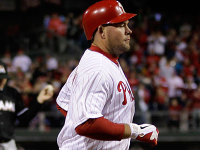 Ty Wigginton hit his first home run with the Phillies on Thursday. (Matt Slocum/AP Photo)