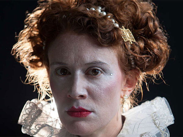 """Krista Apple-Hodge plays Elizabeth I in """"Mary Stuart"""" from the Philadelphia Artists Collective. (Kate Raines/Plate 3 Photography)"""