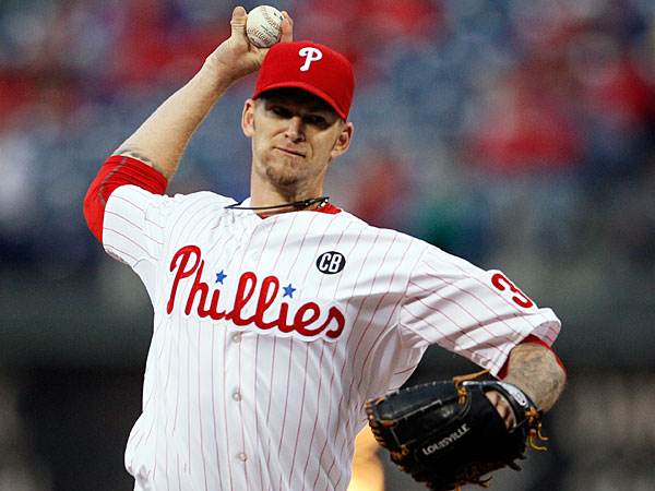 A.J. Burnett during a baseball game against the Miami Marlins, Friday, April 11, 2014, in Philadelphia. (Tom Mihalek/AP)