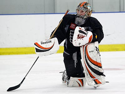 Sergei Bobrovsky will be the Flyers´ starting goalie when they open the playoffs Thursday. (Yong Kim/Staff Photographer)