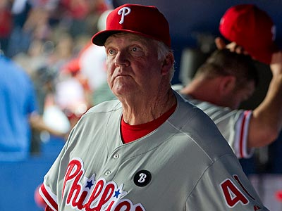 Charlie Manuel used John Mayberry Jr. to pinch-hit instead of Ross Gload in Tuesday´s loss. (Rich Addicks/AP)