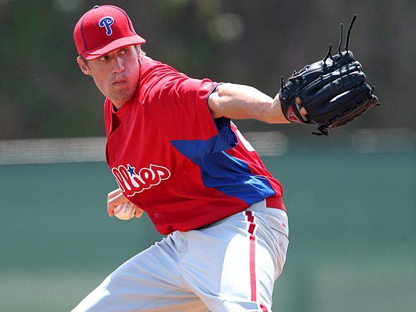 Phillies pitching prospect Kenny Giles. (Mike Janes/Four Seam Images via AP Images)