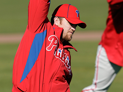 Phillies reliever Brad Lidge threw a scoreless inning in a rehab appearance Wednesday. (AP Photo/Eric Gay)