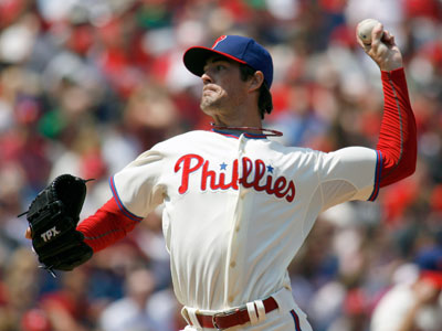 Cole Hamels struck out 10 in the Phillies´ 8-2 win over the Mets on Sunday.  (AP Photo/H. Rumph Jr)