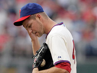 Ryan Madson allowed two earned runs in one inning against the Nationals yesterday. (Yong Kim / Staff Photographer)