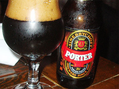 A pint of Sinebrychoff Porter from Finland is dark and forbidden; go ahead, you know you want to.