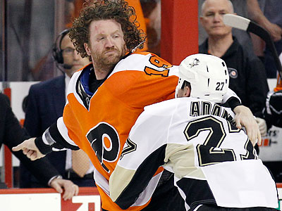 Pittsburgh´s Craig Adams Adams was suspended one game for an instigator penalty late Game 3. (Yong Kim/Staff Photographer)