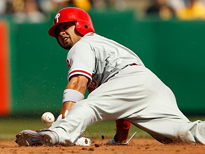 Shane Victorino and the Phillies are tied for the league lead in stolen bases. (Yong Kim/Staff Photographer)