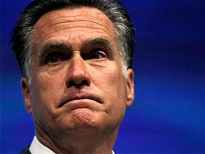 Republican presidential candidate, former Massachusetts Gov. Mitt Romney speaks at the National Rifle Association convention in St. Louis, Friday, April 13, 2012. (AP Photo / Michael Conroy)