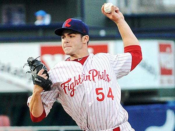 Reading Fightin Phils pitcher Jesse Biddle. (Jacqueline Dormer/The Republican-Herald/AP)