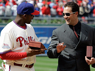"""""""In some capacity I think I´ll always be a part of it, if I´m given the opportunity,"""" Pat Burrell said. (Tom Mihalek/AP)"""