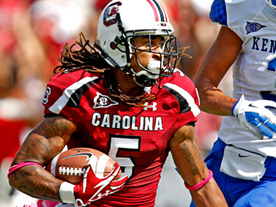 South Carolina´s Stephon Gilmore could be the second cornerback taken in the draft. (AP Photo / Rich Glickstein)