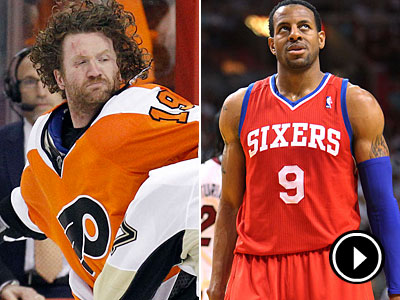 While the Flyers are fighting the Penguins, the Sixers are fighting for a spot in the playoffs. (AP Photos)