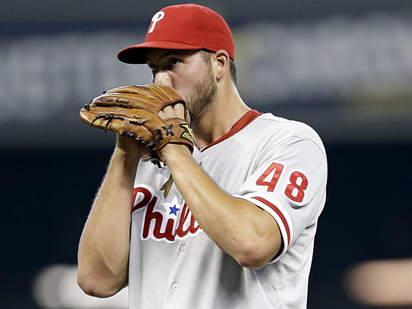 Phillippe Aumont has become the poster boy of the Phillies´ failure to get the most out of their young pitchers. (David J. Phillip/AP file photo)