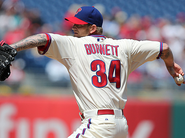 Phillies starting pitcher A.J. Burnett. (David Maialetti/Staff Photographer)