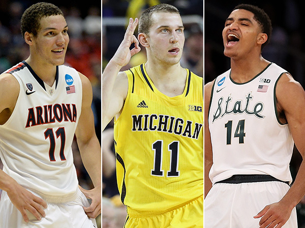 Arizona´s Aaron Gordon, Michigan´s Nik Stauskas, and Michigan State´s Gary Harris. (Getty Images)