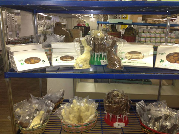 Some of the goodies at Blasius Chocolate Factory on Venango Street in Kensington. (Photo from facebook.com/BlasiusChocolates)