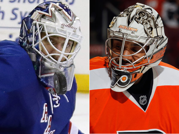 The Rangers´ Henrik Lundqvist will face Flyers backup Ray Emery in Game One Thursday night at Madison Square Garden. (Bruce Bennett photos/Getty Images)