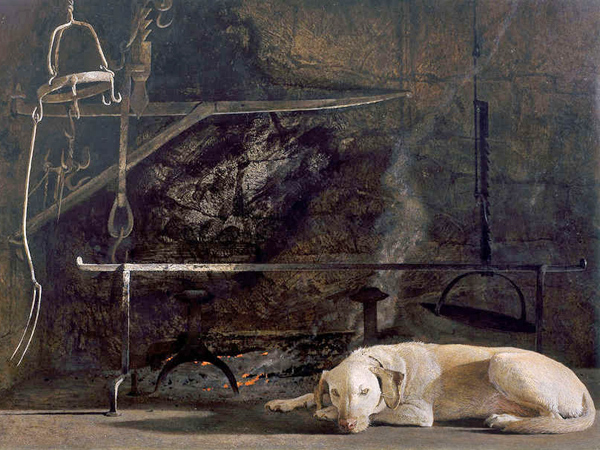 """Ides of March"" (1974) by Andrew Wyeth, from the collection of Mr. and Mrs. Frank E. Fowler."
