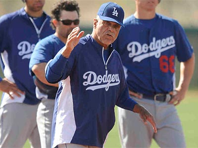 Ex-Phillies first base coach Davey Lopes returned to the city Monday with the Dodgers. (Wally Skalij/Los Angeles Times)