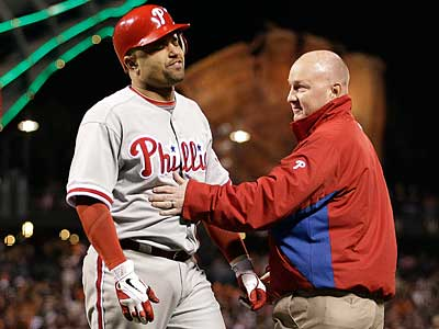Phillies third baseman Placido Polanco is batting .179 this season. (Ben Margot/AP)