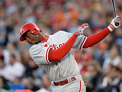 The Phillies´ John Mayberry Jr. is hitting .219 with one extra-base hit. (AP Photo)