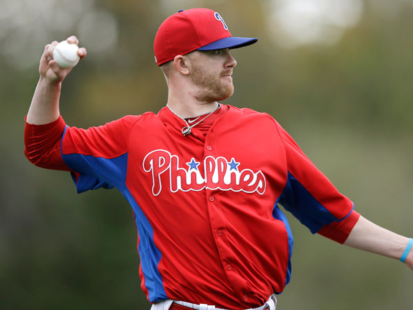 Tyler Cloyd in action during a workout at baseball spring training, Thursday, Feb. 14, 2013, in Clearwater, Fla. (Matt Slocum/AP file)