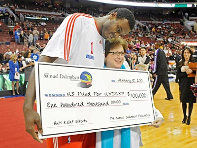 Samuel Dalembert donated $100,000 in January for Haitian relief efforts. (Clem Murray/Staff file photo)