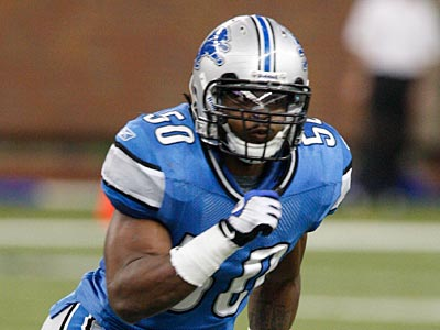 The Eagles have acquired Lions linebacker Ernie Sims in a three-team trade also involving the Broncos. (AP Photo/Carlos Osorio)