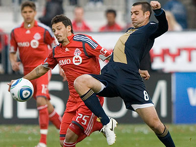 The Union have racked up seven yellow cards and two red cards so far this season. (Chris Young/Canadian Press/AP)