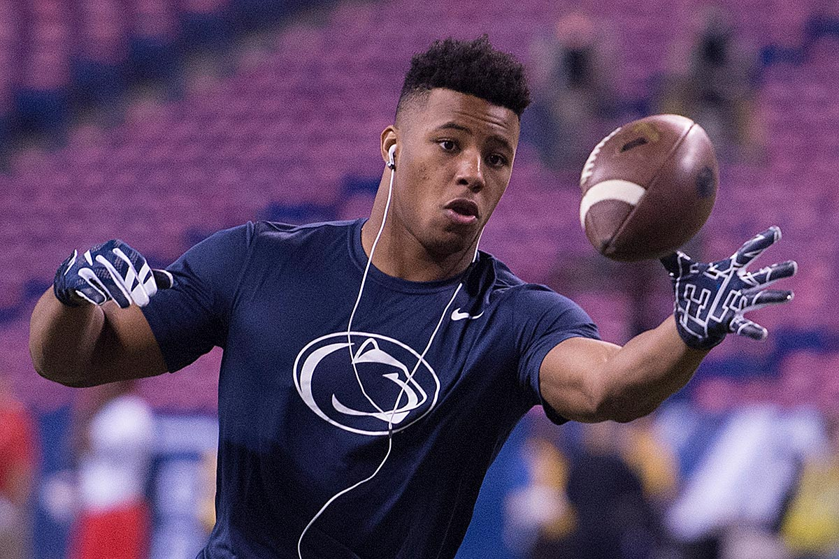 Penn State star running back Saquon Barkley.