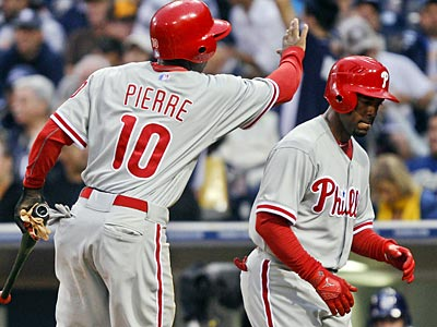 Jimmy Rollins will lead off and Juan Pierre will bat second. (Lenny Ignelzi/AP)