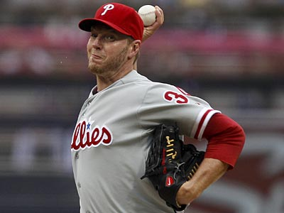 Roy Halladay will get the start tonight against the Cubs. (Lenny Ignelzi/AP)