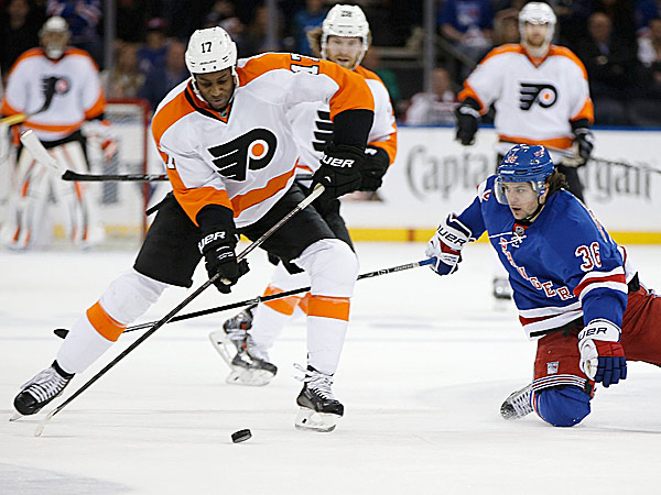 Flyers right wing Wayne Simmonds. (Kathy Willens/AP)
