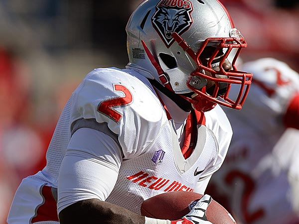 Crusoe Gongbay of the New Mexico Lobos. (Photo by Thearon W. Henderson/Getty Images)