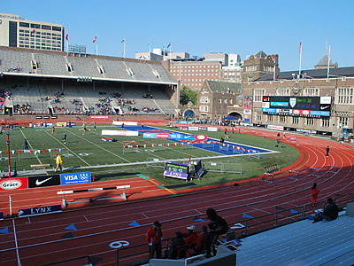 Franklin Field is ready to host the 116th edition of the Penn Relays. (Jonathan Tannenwald/Philly.com)