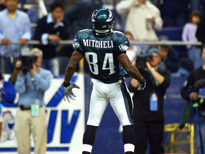 Freddie Mitchell, the Eagles´ 2001 1st round, 25th overall draft pick, never lived up to his own hype. (Yong Kim / Staff Photographer)