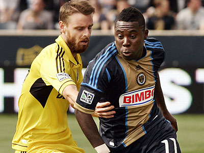 Freddy Adu and the Union will next take the field Saturday afternoon in Seattle. (Tom Mihalek/AP file photo)