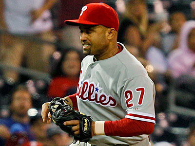 Placido Polanco and the Phillies´ third basemen have struggled to produce at the plate this season. (Lenny Ignelzi/AP)